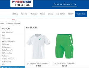 Clubkleding AV Suomi online bestellen