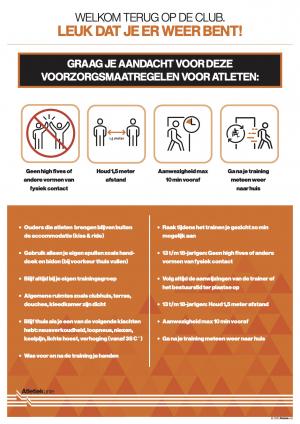 Voorzorgsmaatregelen voor atleten