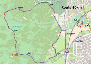 Route Alternatieve Pim Mulierloop